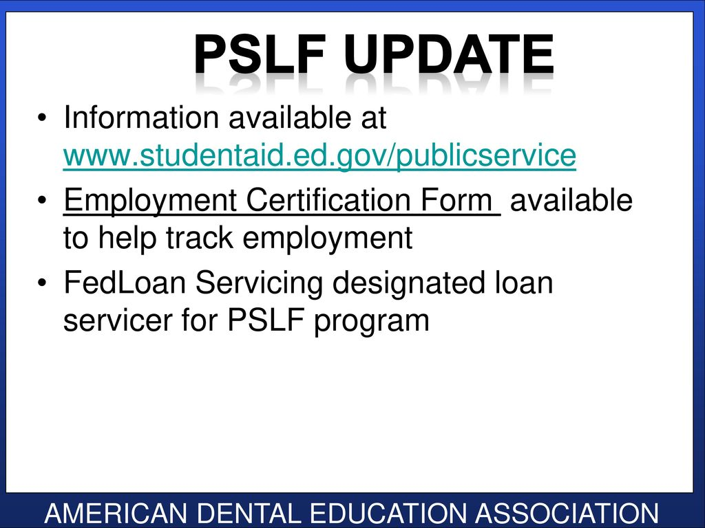 Senior loan exit interview class of ppt download 49 pslf update information available at employment certification form 1betcityfo Image collections