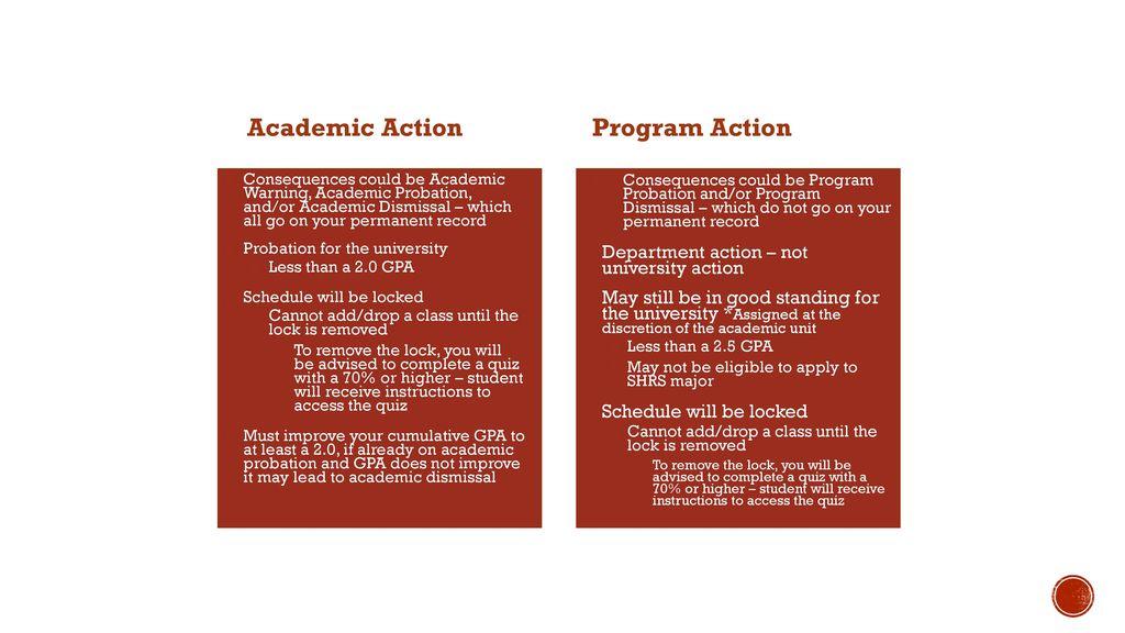 5 Academic Action Program Action