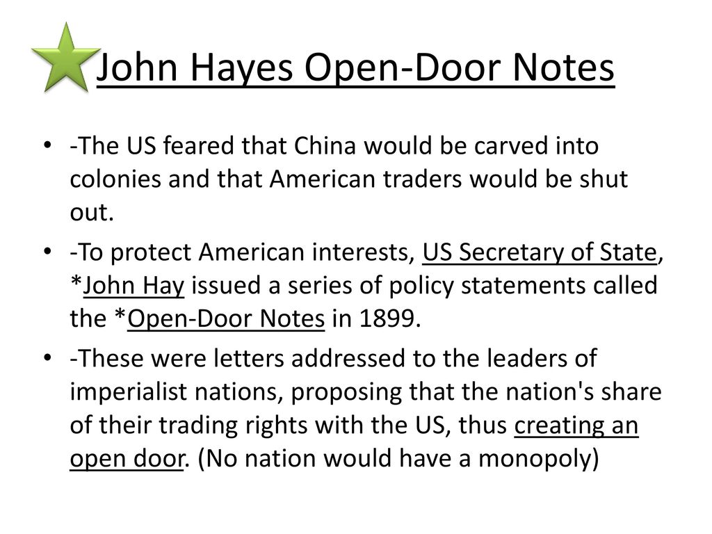 John Hayes Open-Door Notes  sc 1 st  SlidePlayer & U.S. History Chapter 18 Notes America Claims an Empire - ppt video ... pezcame.com