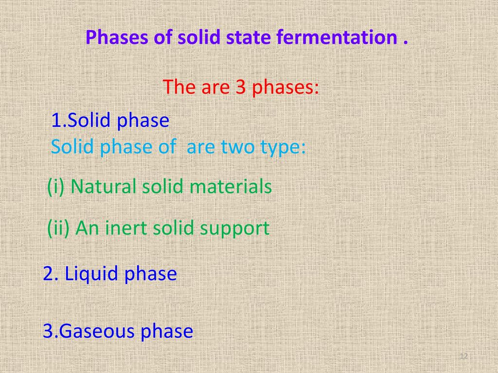 Phases of solid state fermentation .