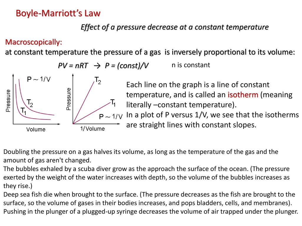 boyle s law effect of air density 3200 more heat is required to raise to same temperature water, than air of the  same volume  light – made up of electromagnetic energy water affects light  through: the speed of light depends on the density of the medium  boyle's law  deals with the relationship between pressure and volume  boyles-law-air- pressure.
