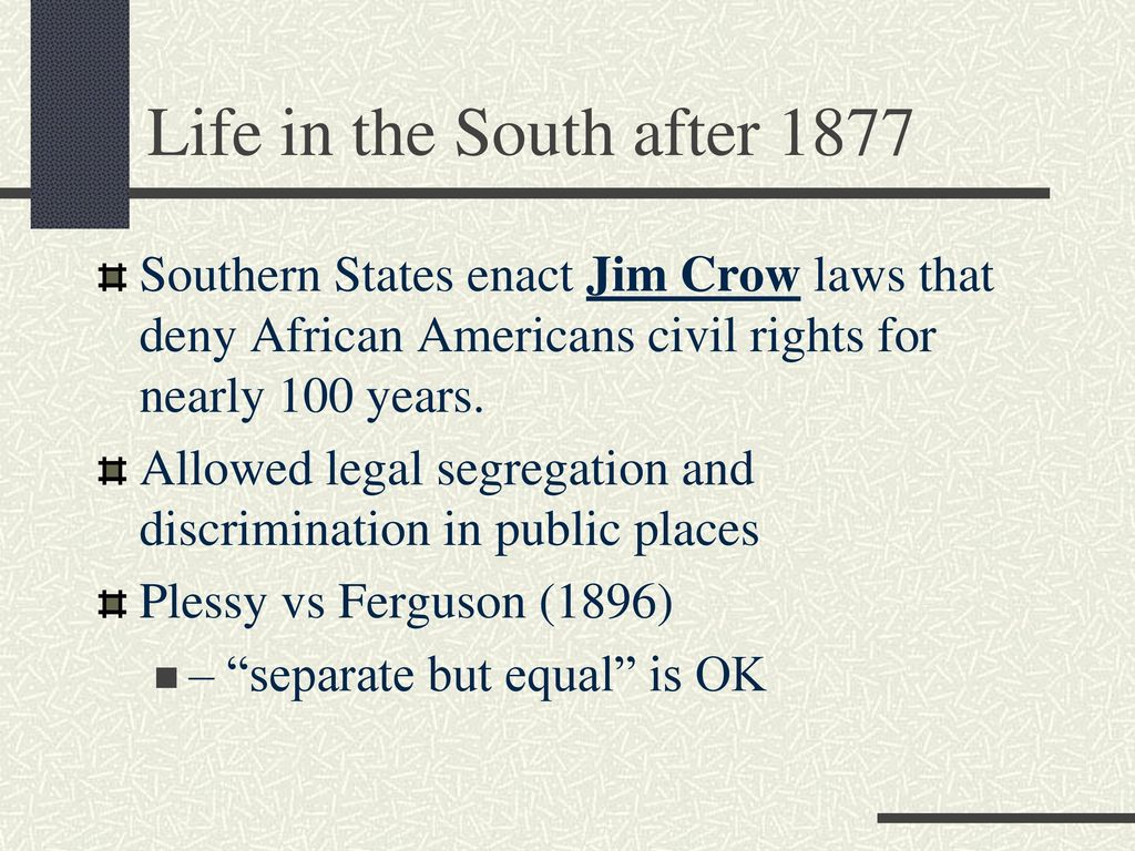 The Jim Crow Laws: Legalizing Discrimination Essay