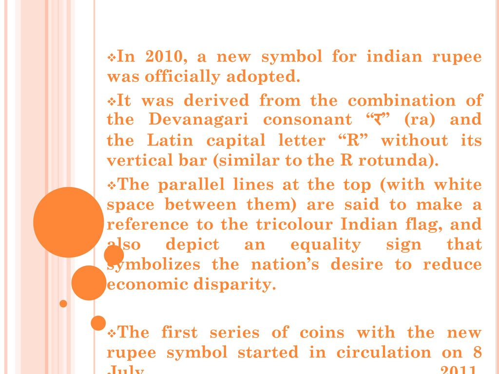 Demonetization a conceptual framework ppt video online download in 2010 a new symbol for indian rupee was officially adopted biocorpaavc Choice Image