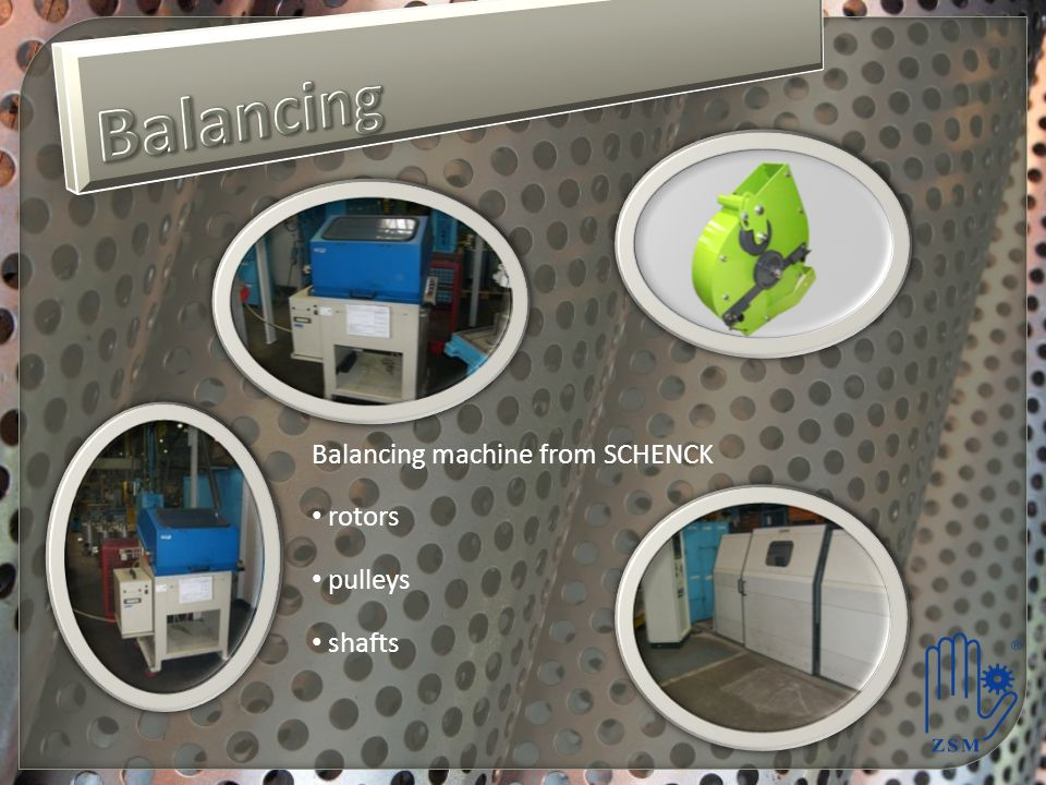 Balancing Balancing machine from SCHENCK rotors pulleys shafts