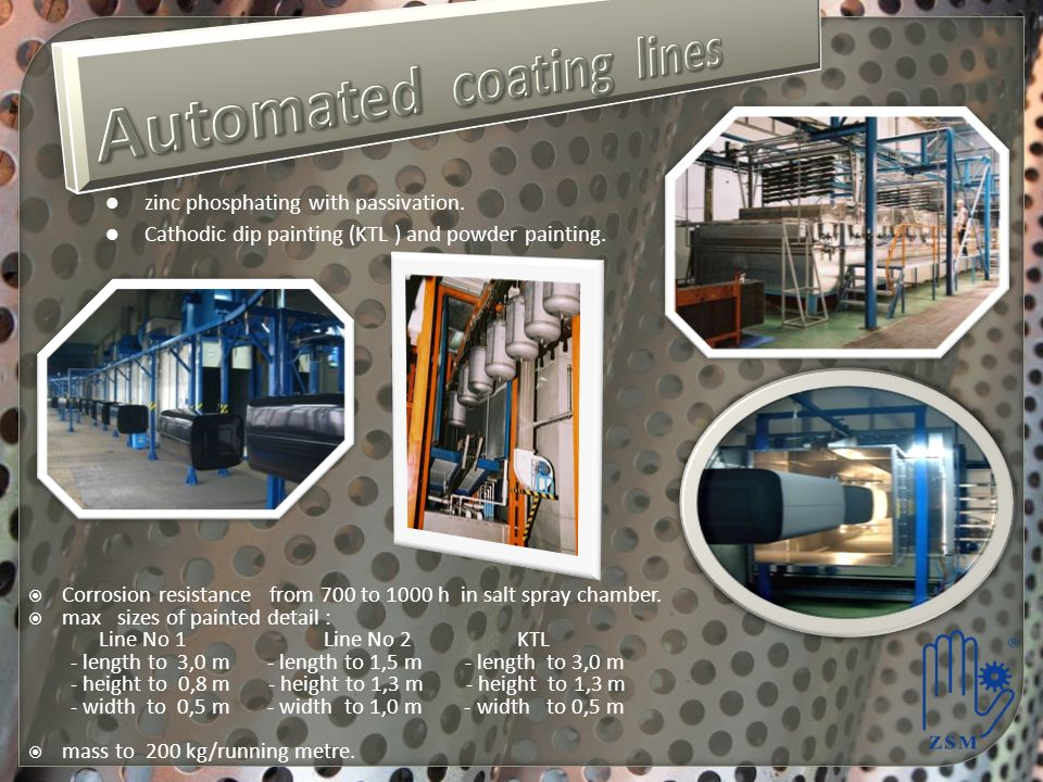 Automated coating lines