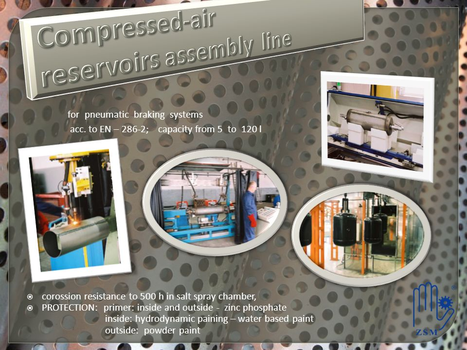 Compressed-air reservoirs assembly line