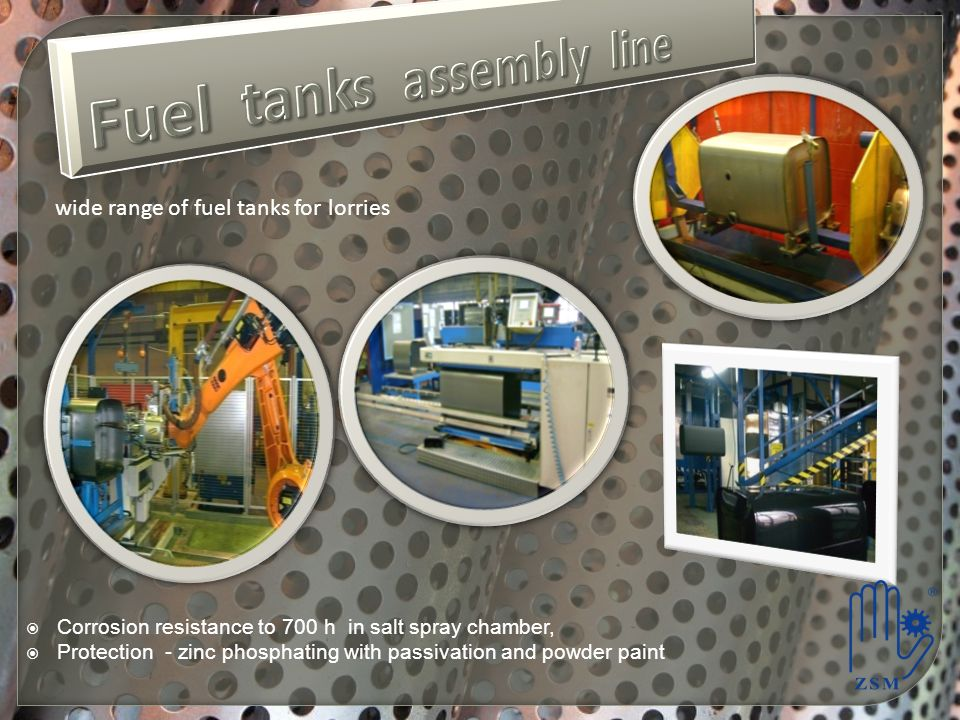 Fuel tanks assembly line
