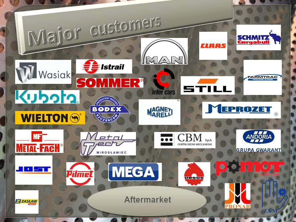 Major customers Aftermarket