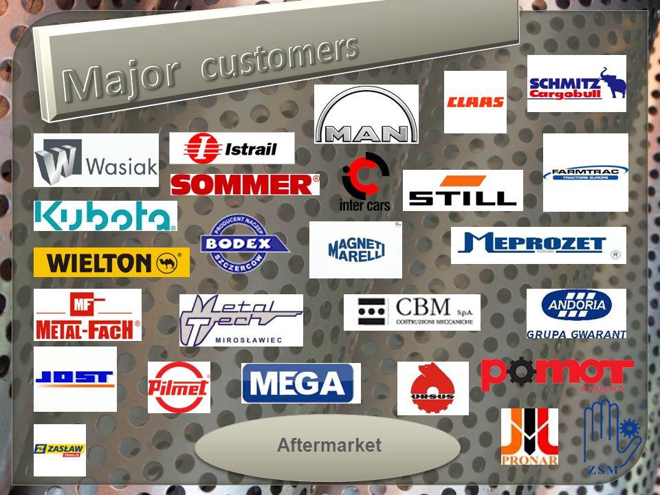 Major customers Aftermarket