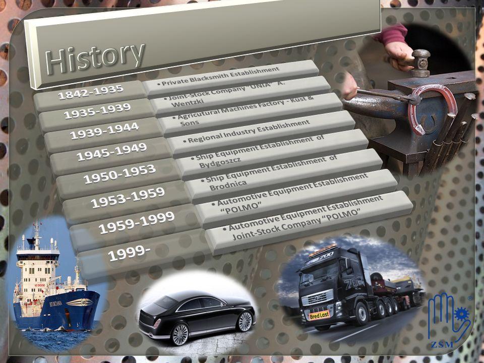 History 1842-1935. Private Blacksmith Establishment. 1935-1939. Joint-Stock Company UNIA A. Wentzki.