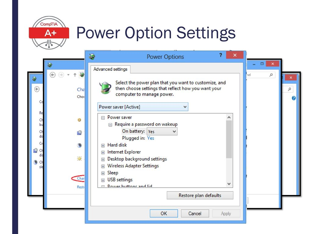 Power Option Settings ACPI can be enabled/disabled in BIOS/UEFI.