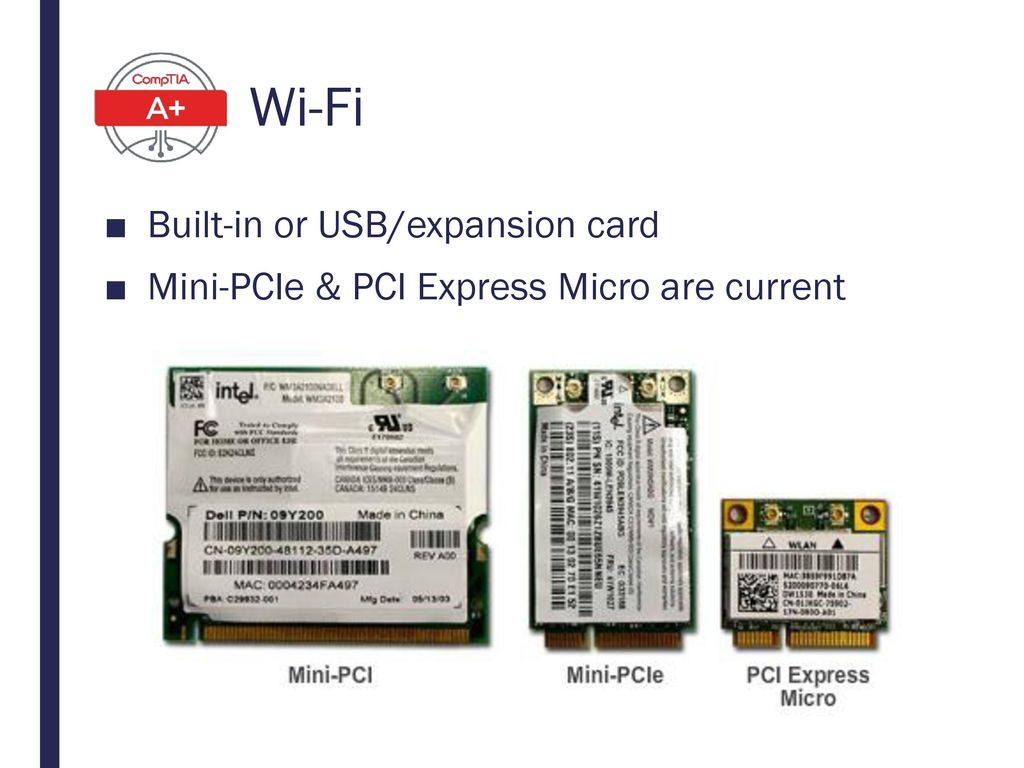 Wi-Fi Built-in or USB/expansion card
