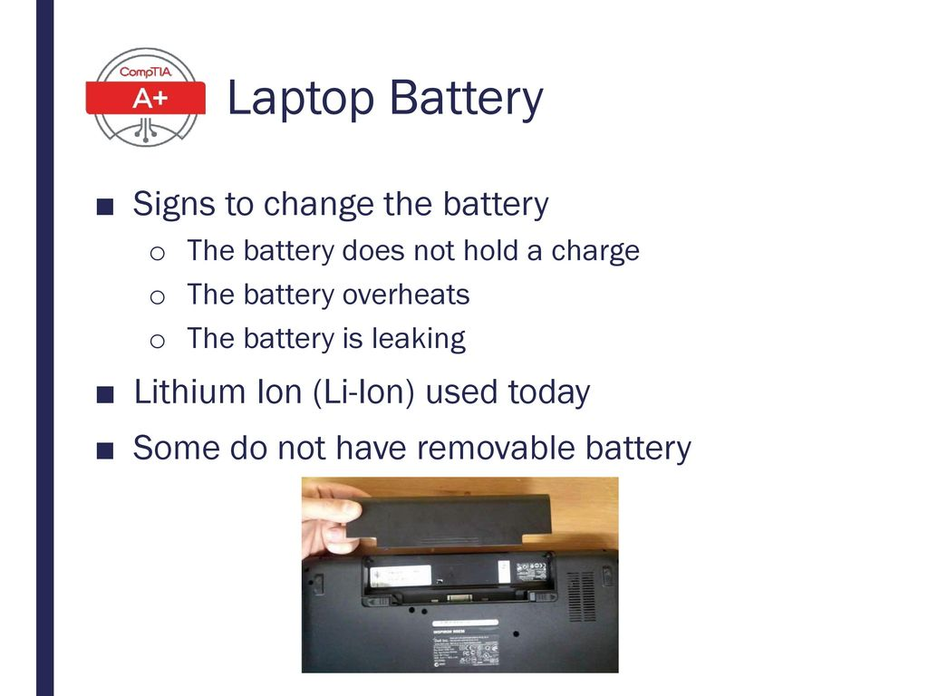 Laptop Battery Signs to change the battery
