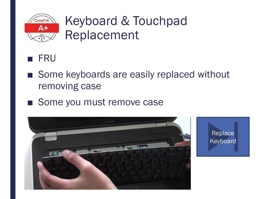 Keyboard & Touchpad Replacement