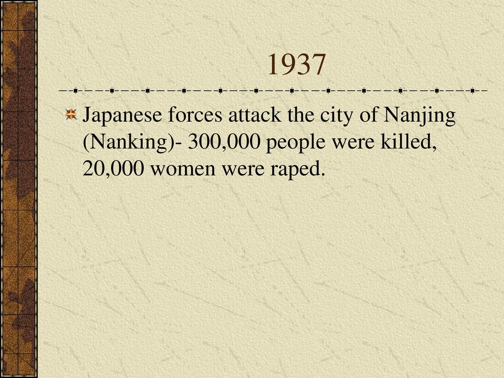 The pacific theater ppt download 3 1937 japanese forces attack the city of nanjing nanking 300000 people were killed 20000 women were raped publicscrutiny Choice Image