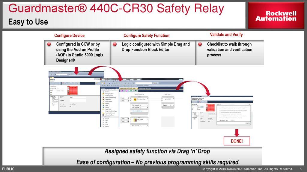 Software configurable safety relay ppt video online download 5 guardmaster ccuart Images