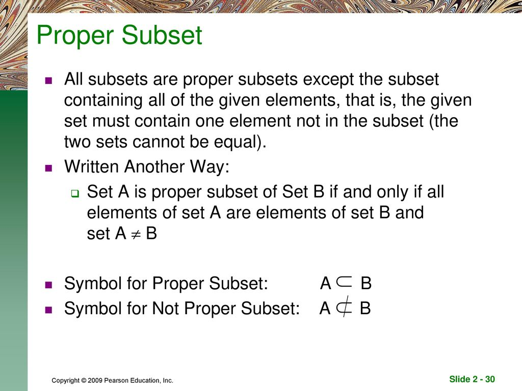 Welcome to mm150 unit 2 seminar ppt download proper subset biocorpaavc Image collections