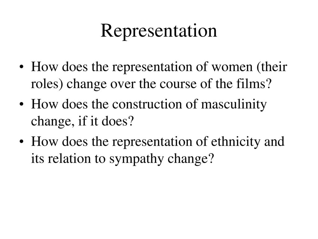 the role and representation of women