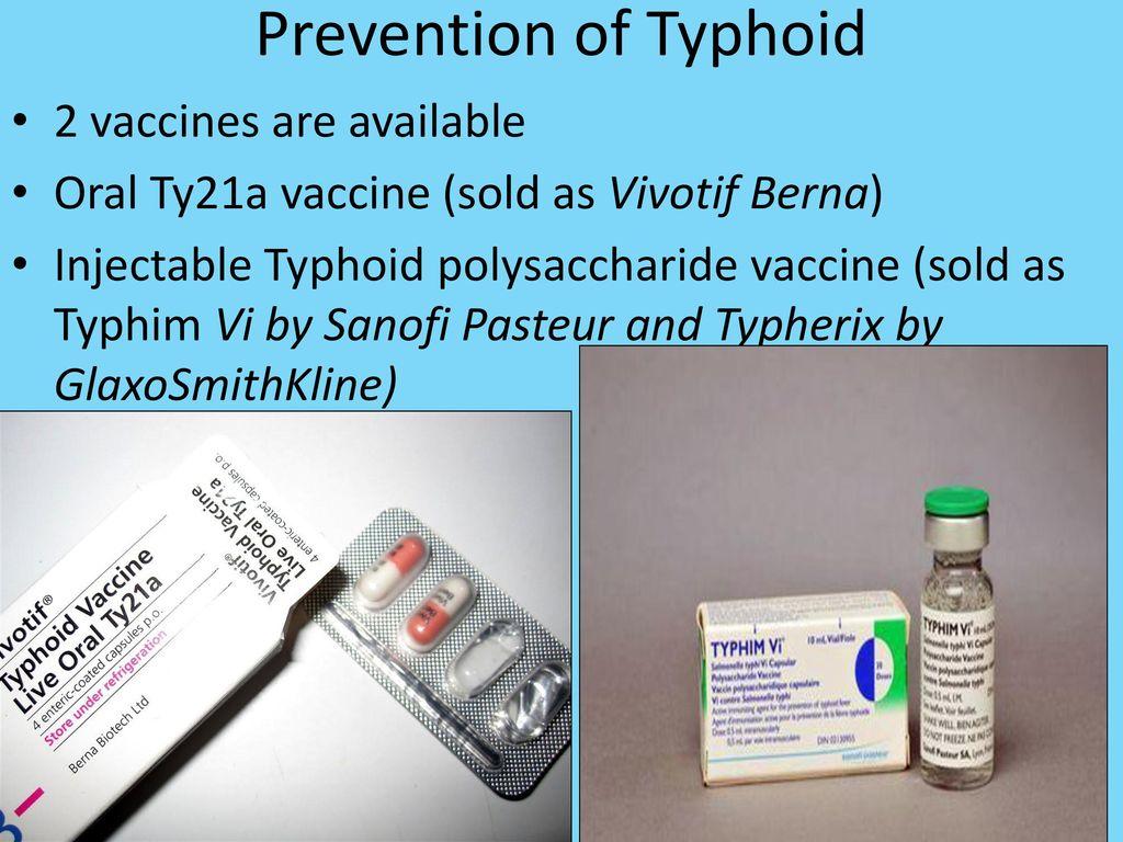 vivotif typhoid oral vaccine instructions