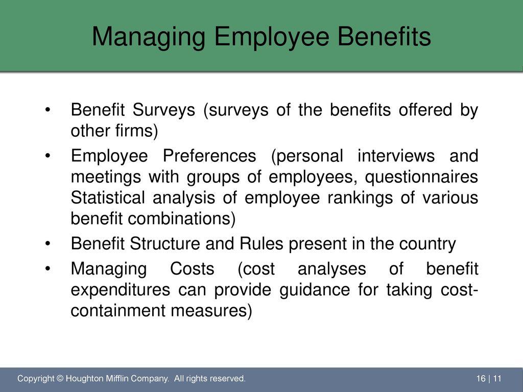 employee benefits surveys