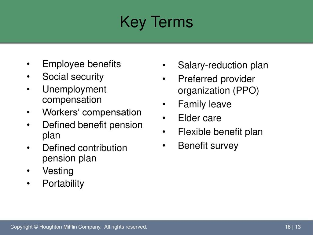 compensation and security for employees Benefits, don't affect your social security disability benefits workers'  compensation and other public disability benefits, however, may reduce your  social.