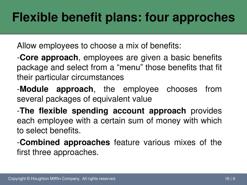 the impact of flexible benefit plans Implementing a flexible benefit plan  the source of employee data and make  sure the impact on payroll processing is clearly thought through and documented.