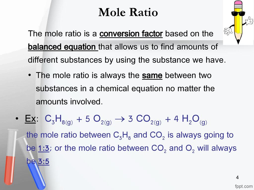 how is a mole ratio write answers to the courts