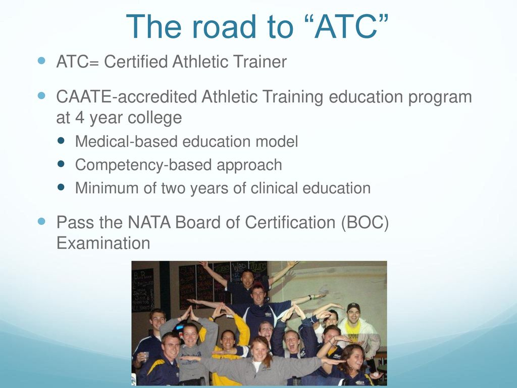 Ms harpham spelled like sounds like harp um ppt download the road to atc atc certified athletic trainer 1betcityfo Choice Image