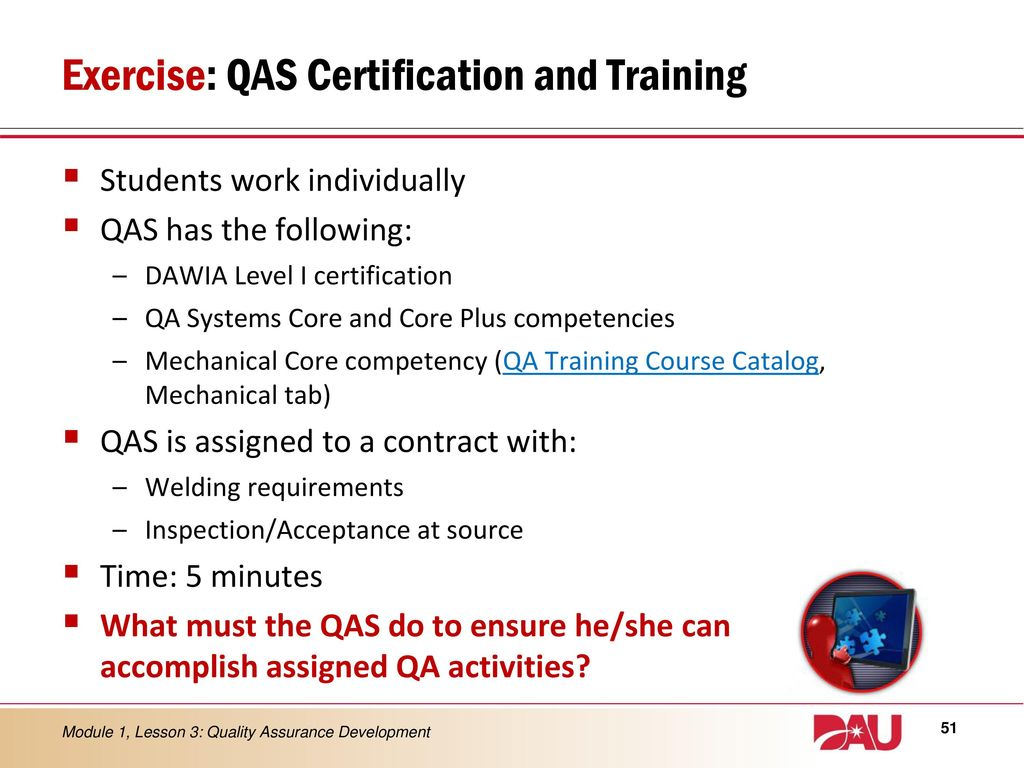 Lesson 3 quality assurance development ppt download exercise qas certification and training 1betcityfo Gallery