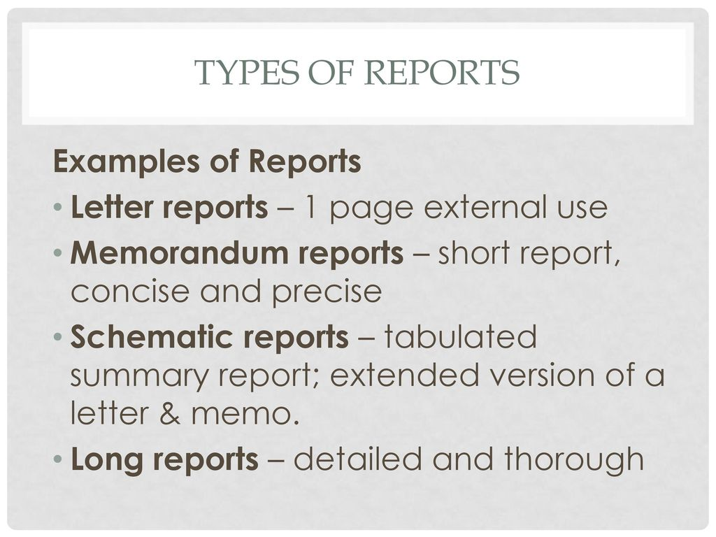 REPORT WRITING. - ppt download