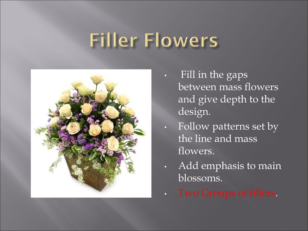 Selection of cut flowers and greens ppt download 7 filler izmirmasajfo