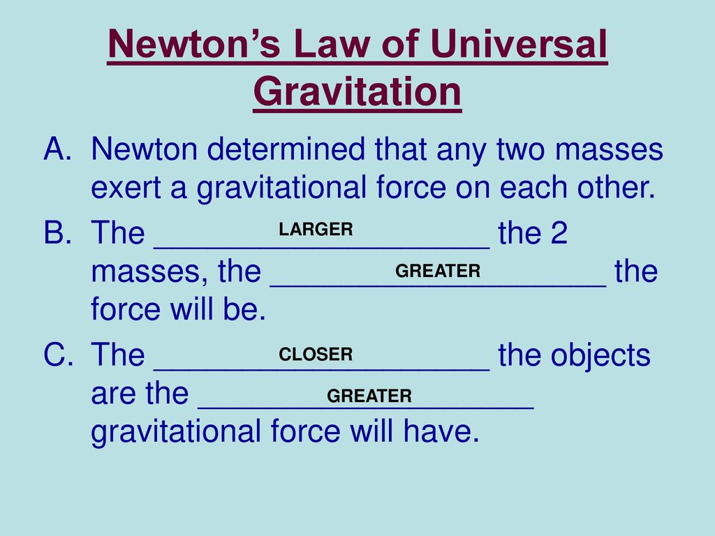worksheet Law Of Universal Gravitation Worksheet Key gravity and weight worksheet 23 ppt video online download newtons law of universal gravitation