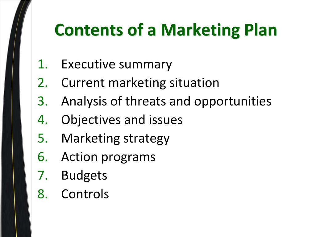 executive summary situation analysis marketing objectives strategies tactics financial consideration Marketing tactics and strategies: definition & examples  lesson summary marketing objectives define what you want to accomplish through your marketing activities there are several important.