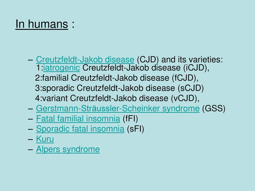 the creutzfeldt jakob disease essay Creutzfeldt–jakob disease: prion protein type, disease phenotype and agent strain the human transmissible spongiform encephalopathies or human prion diseases are.