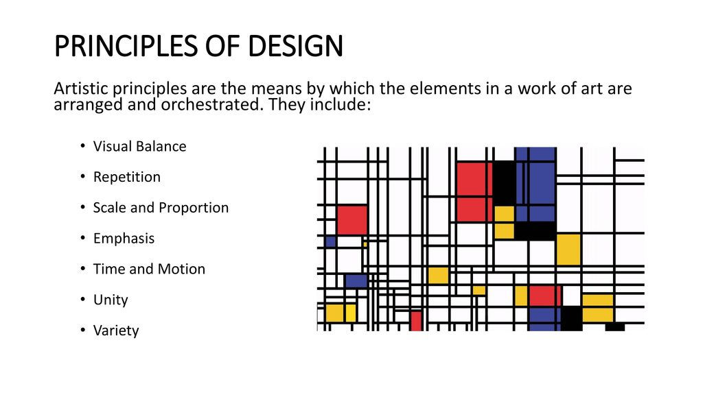 Visual Balance In Art : Principles of design artistic are the means by