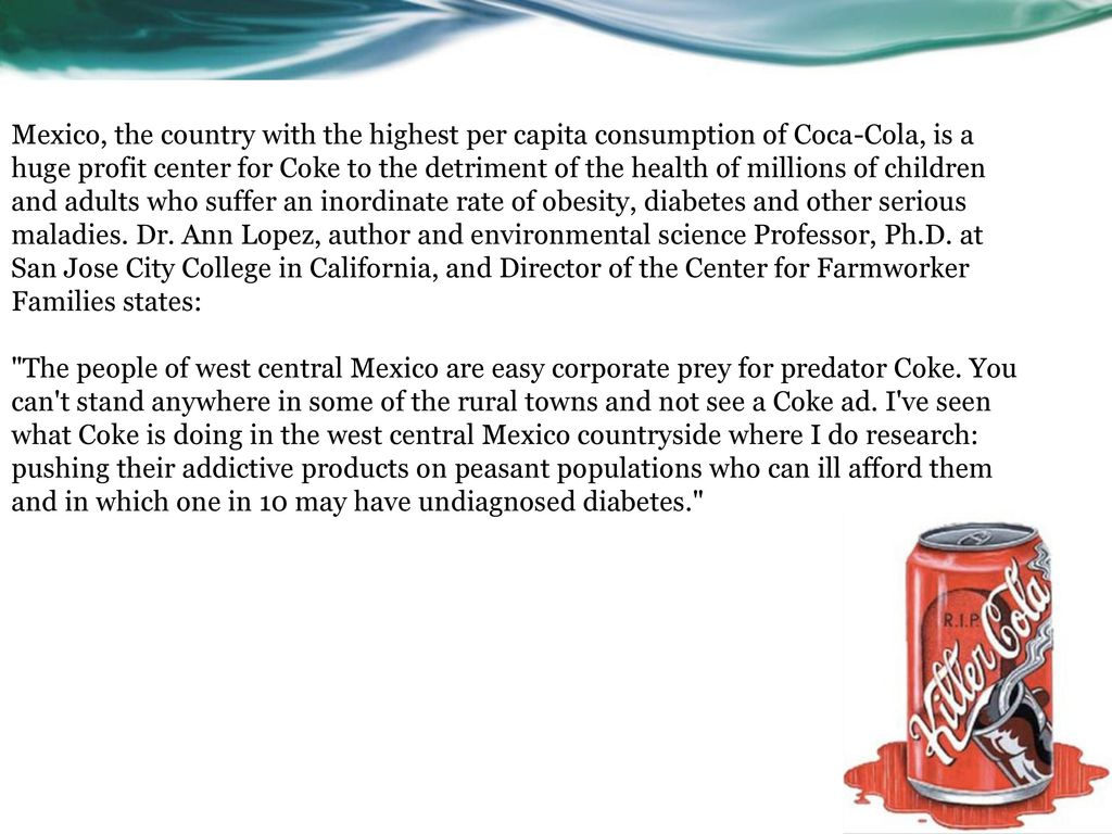 coke not good for health