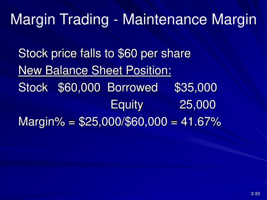 Chapter 3 securities markets ppt download margin trading maintenance margin biocorpaavc Choice Image