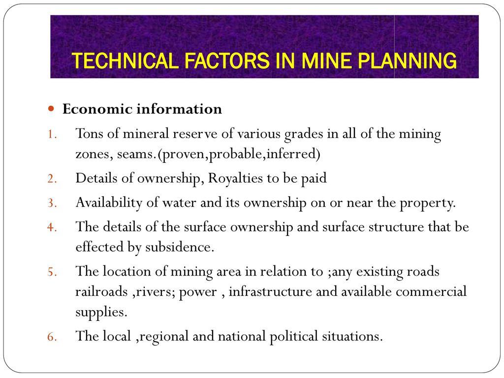Mine Planning And Design Ppt Download