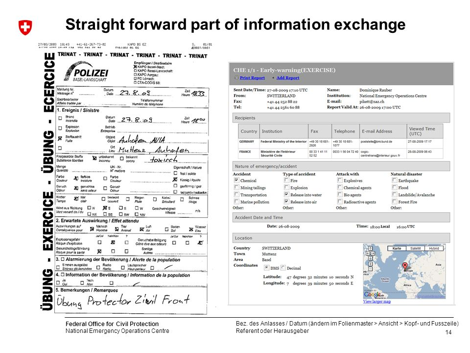 Straight forward part of information exchange
