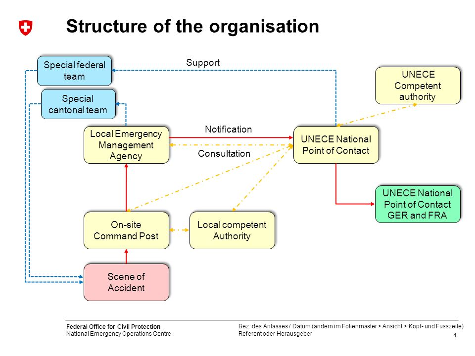 Structure of the organisation