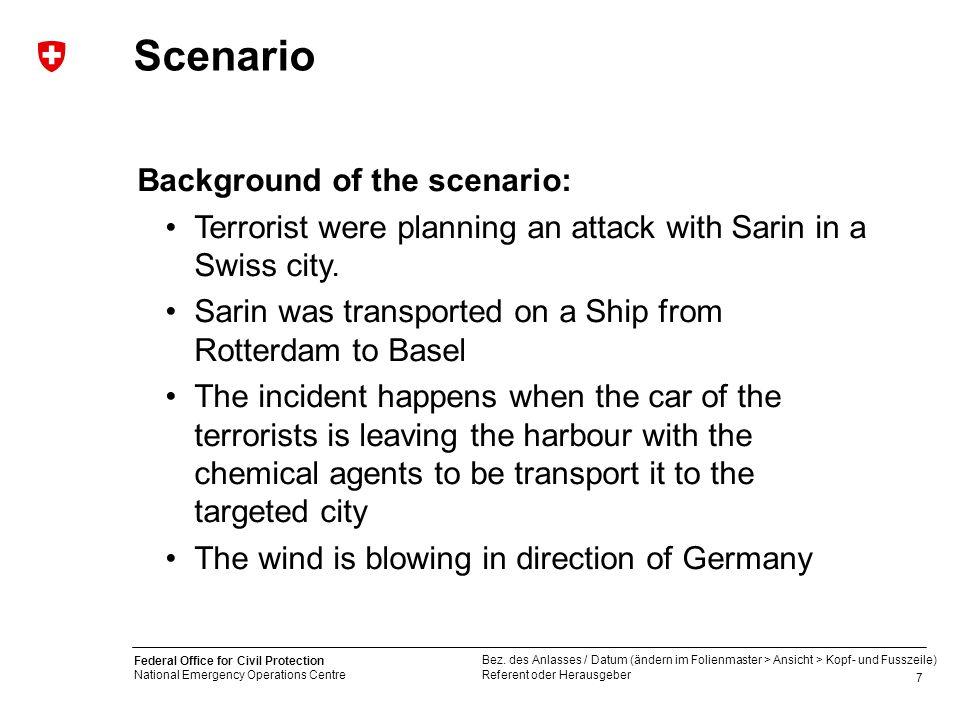 Scenario Background of the scenario:
