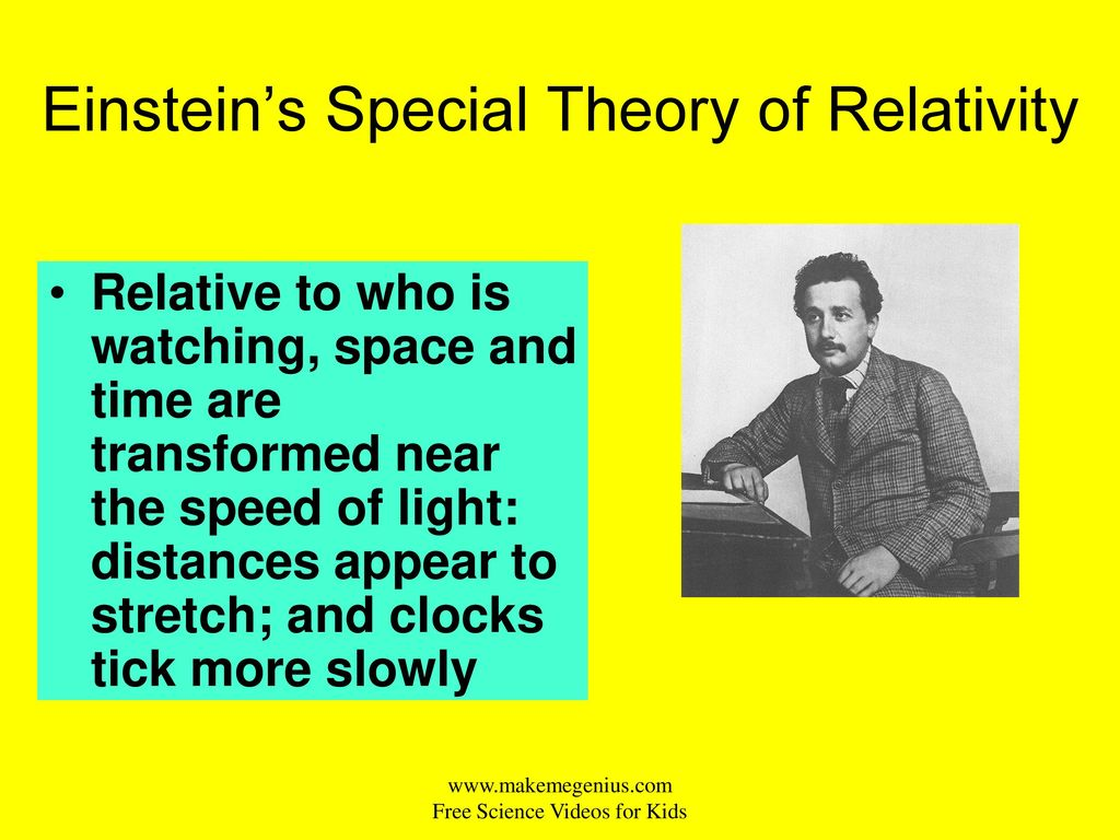 theory of special relativity questions In 1905 albert discovered relativity, in 1906 he invented rock and roll ~yahoo serious young einstein was a wildly successful indie film by yahoo serious () in the last week or two, i've gotten several excellent questions on special and general relativity.