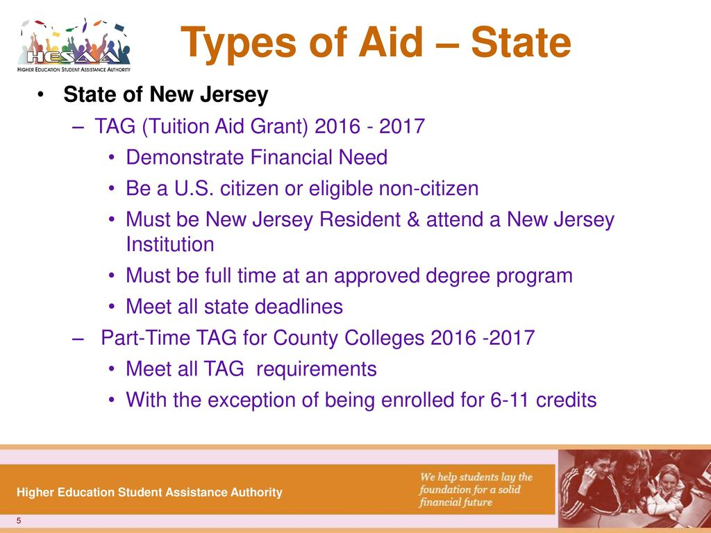 Financial aidfafsa webinar new jersey higher education student types of aid state state of new jersey xflitez Images
