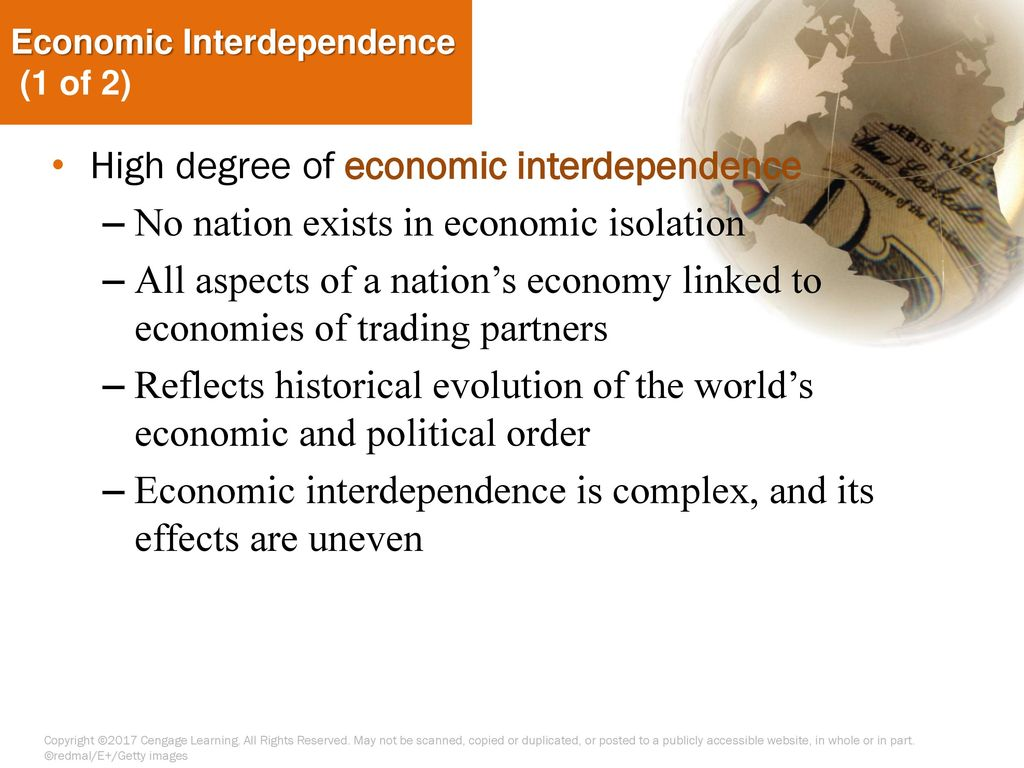 integration and interdependence of national economies economics essay Globalization economics essay reinicke notes a distinction between global interdependence impediments of economic integration in african economies.