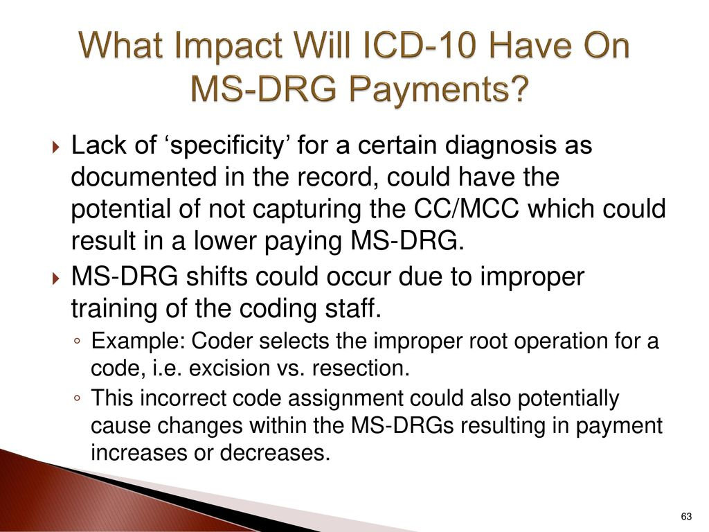 Icd 10 changes everything in the revenue cycle ppt download what impact will icd 10 have on ms drg payments xflitez Choice Image