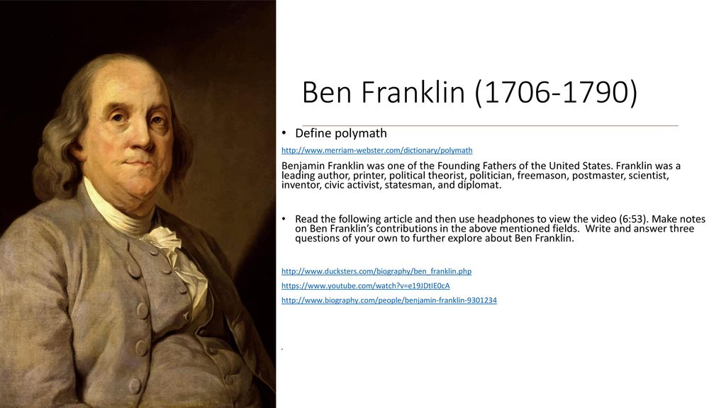benjamin franklin video