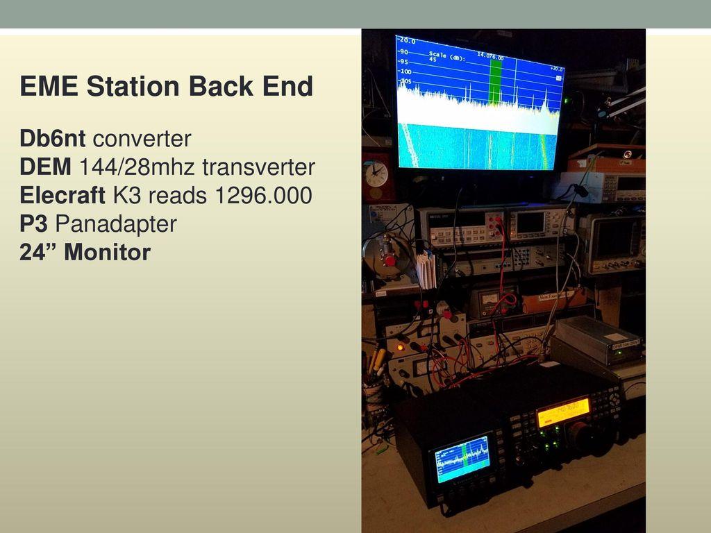 EME Station Back End Db6nt converter DEM 144/28mhz transverter
