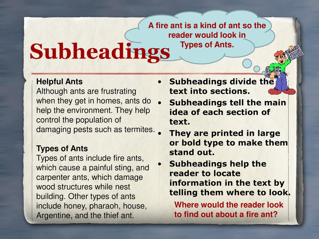 A fire ant is a kind of ant so the reader would look in