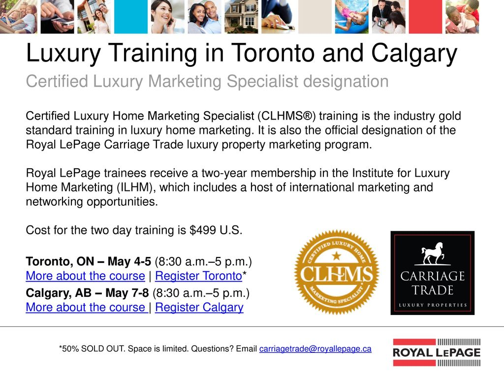 11 Luxury Training In Toronto And Calgary Certified Luxury Marketing  Specialist Designation Certified Luxury Home ...