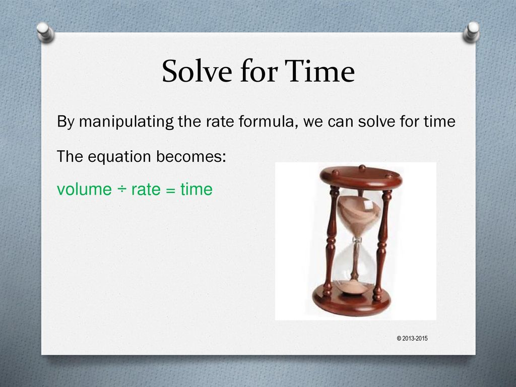how to solve for rate